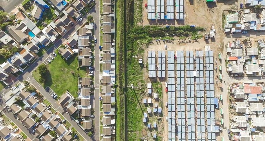 johnny miller fotos drone linea desigualdad africa pobreza riqueza
