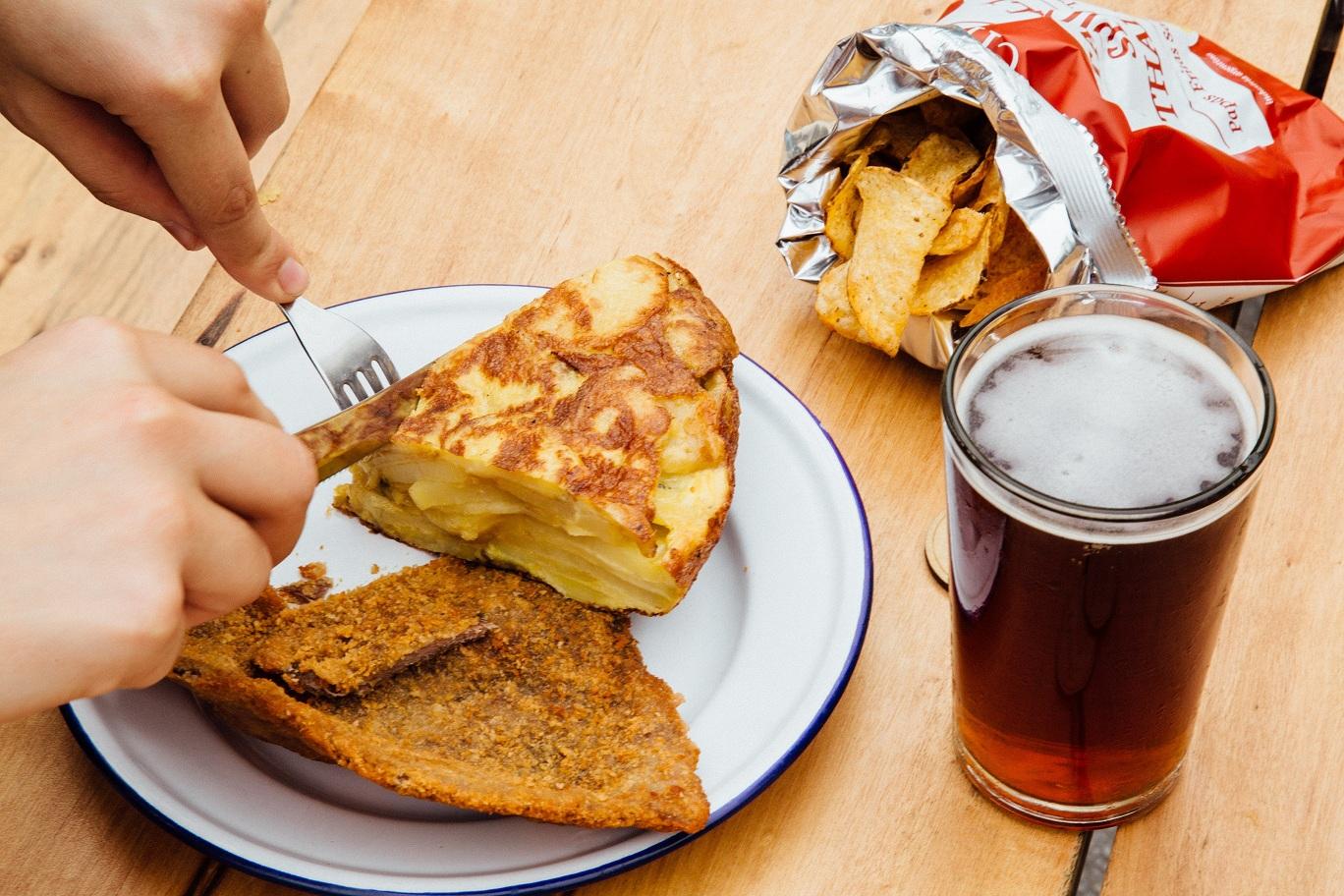 Milanesa y Tortilla - Camping dia del amigo