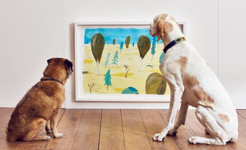 Play More Dominic Wilcox muestra arte para perros