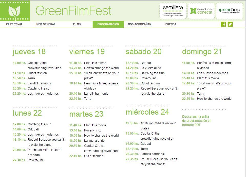 grilla green film festival