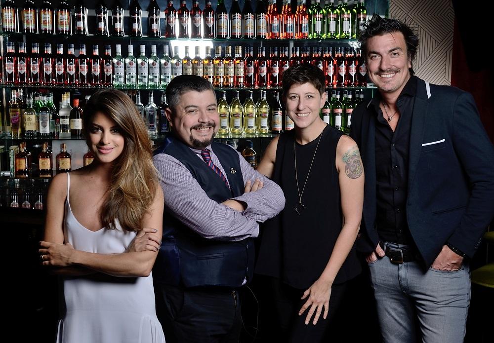 Agustina Casanova, Fedetico Cuco, Inés de los Santos y Joe Fernández el gran bartender