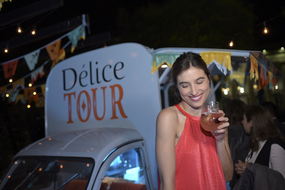 Cintia Garrido en el Délice Tour Chandon en Yonko´s