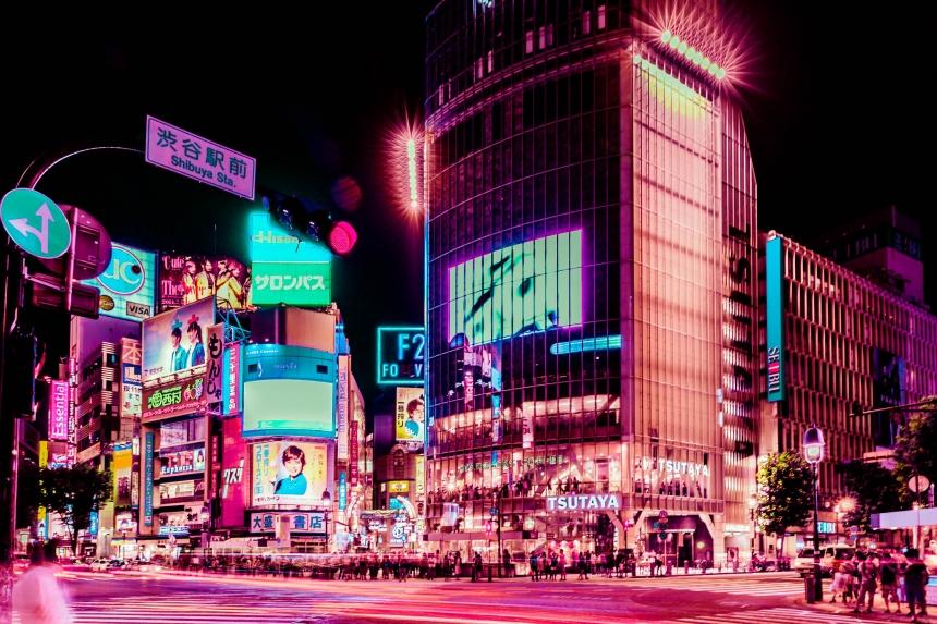 Resplandor de Tokio: Fotógrafo satura en rosa la ciudad más grande del mundo