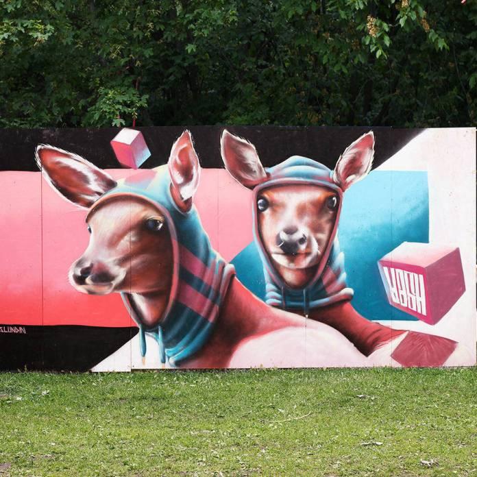 street art Linus Lundin Yash