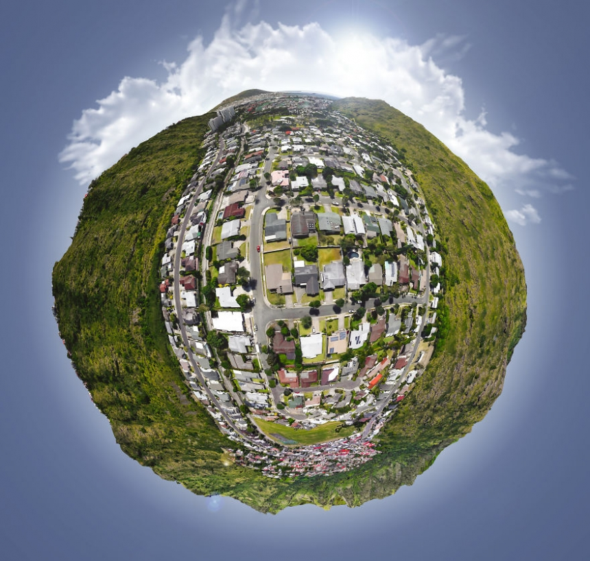 Mini planetas de Janis Petke con Google Earth