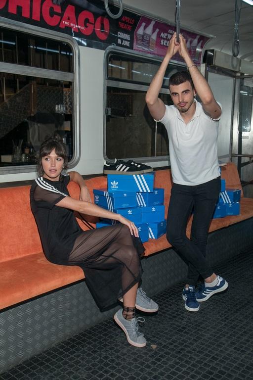Cande Vetrano y Santi Talledo en presentación adidas Campus_Uptown