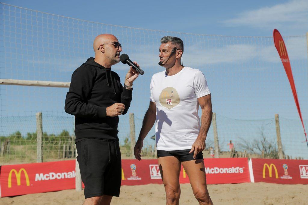 Guillermo López y Sergio Goycochea McDonald's verano 2018 loqueva