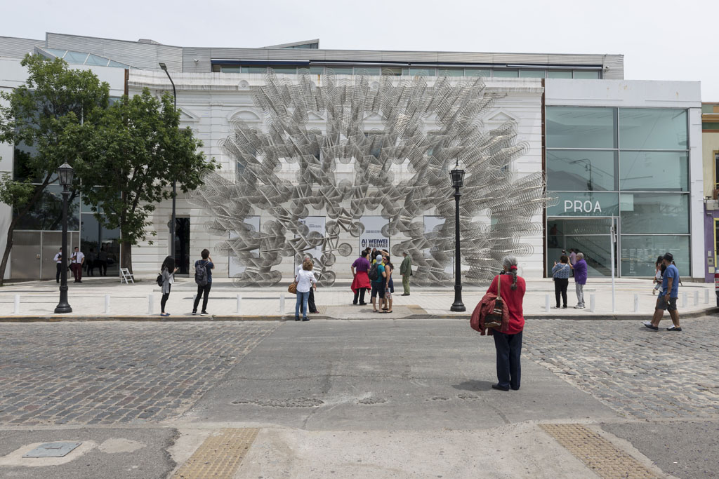 Exhibición INOCULACIÓN de AI WEWEI. Fundación PROA. Buenos Aires. 02-12-2017