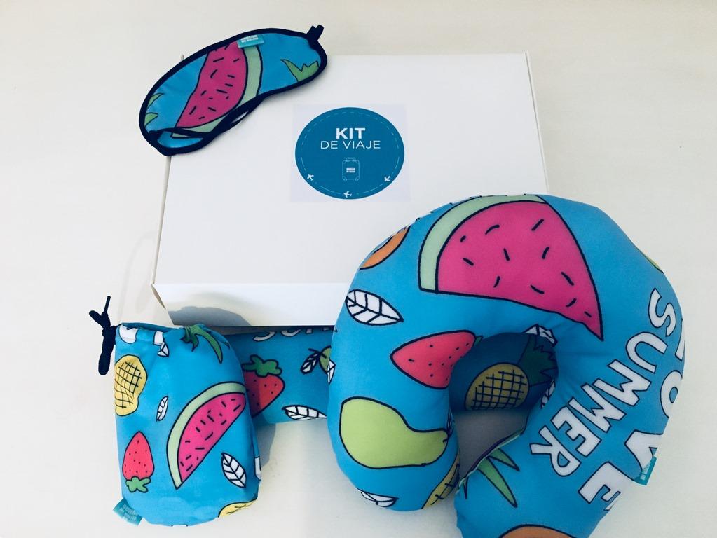 Kit de viaje #3 frutas con caja QuieroMiValija