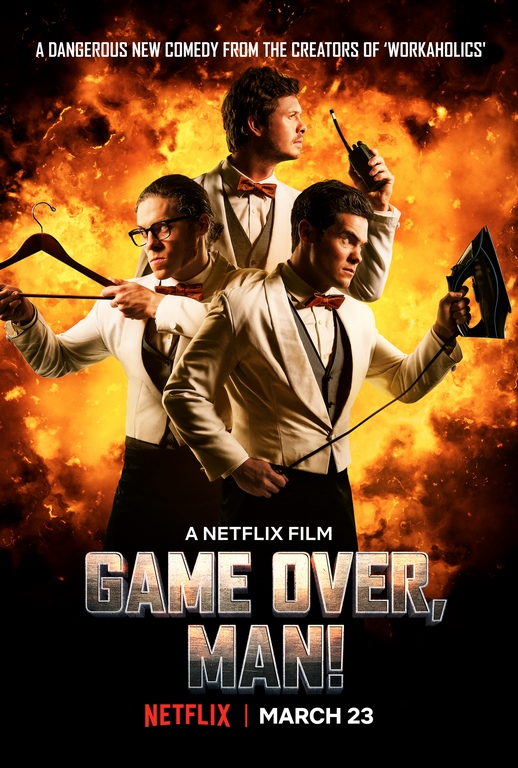 Llega Game Over, Man! Una comedia de acción original de Netflix