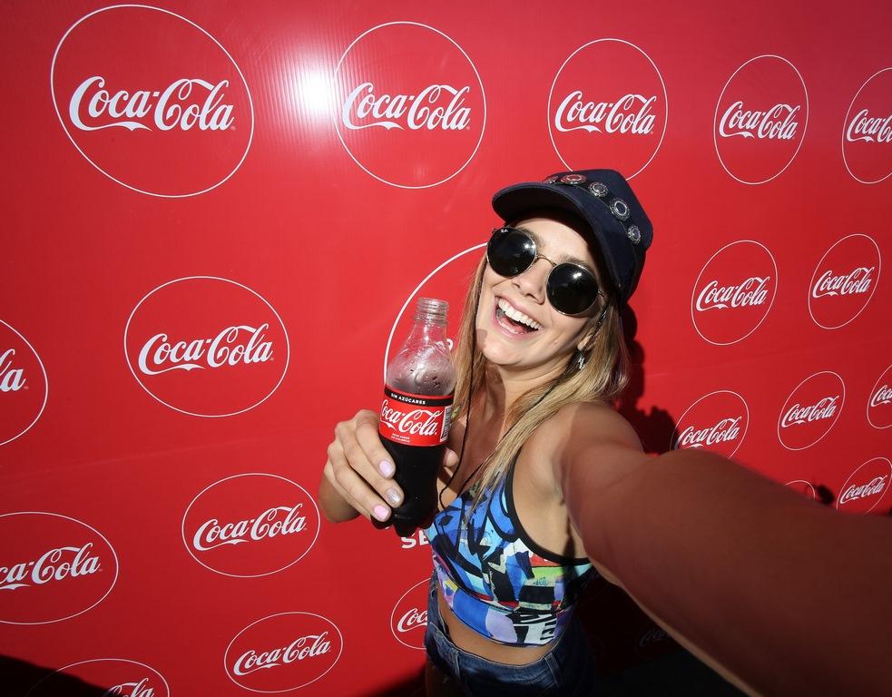 Natalie Pérez se presentó por primera vez como solista en el Coca-Cola Point en Mar del Plata