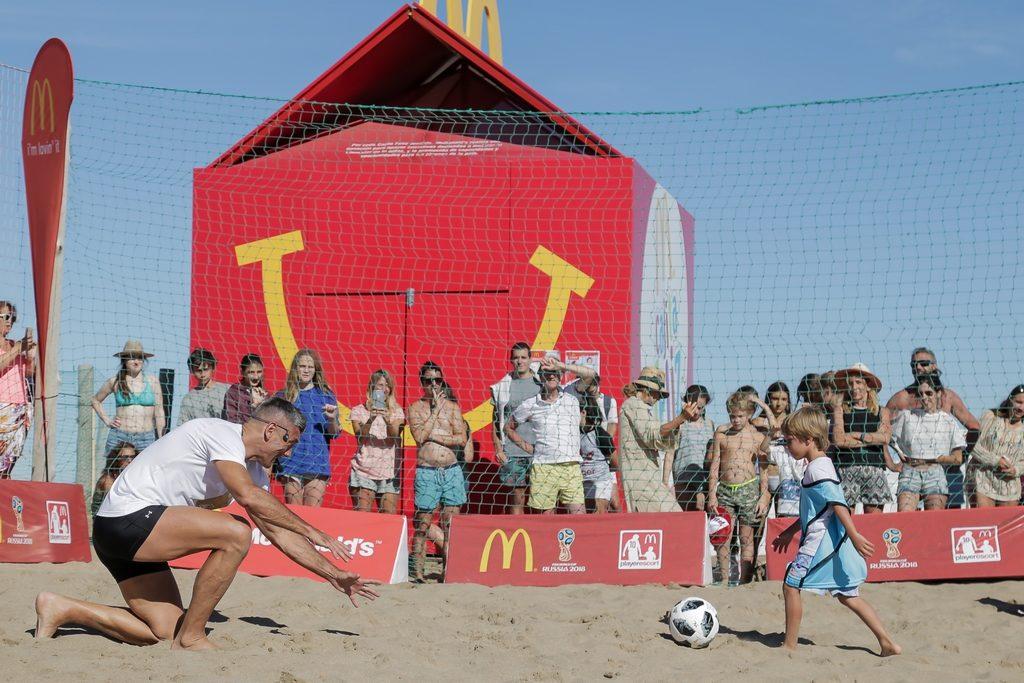 Sergio Goycochea en la Clínica de Futbol McDonald's verano 2018 loqueva