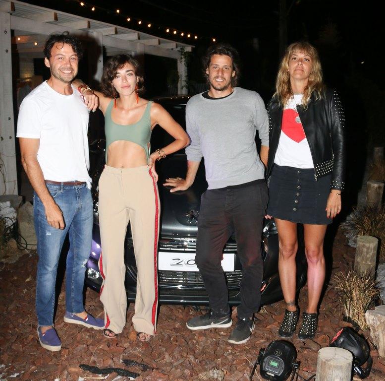 Wally Diamante, Belén Chavanne, Gastón Gaudio y Ana Alvarez de Toledo en Peugeot Music Driven del Este