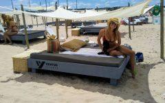 La modelo Sofia Zamolo y Alejandro Lacroix pasaron por el espacio VENTUS FLIGHTS (1)