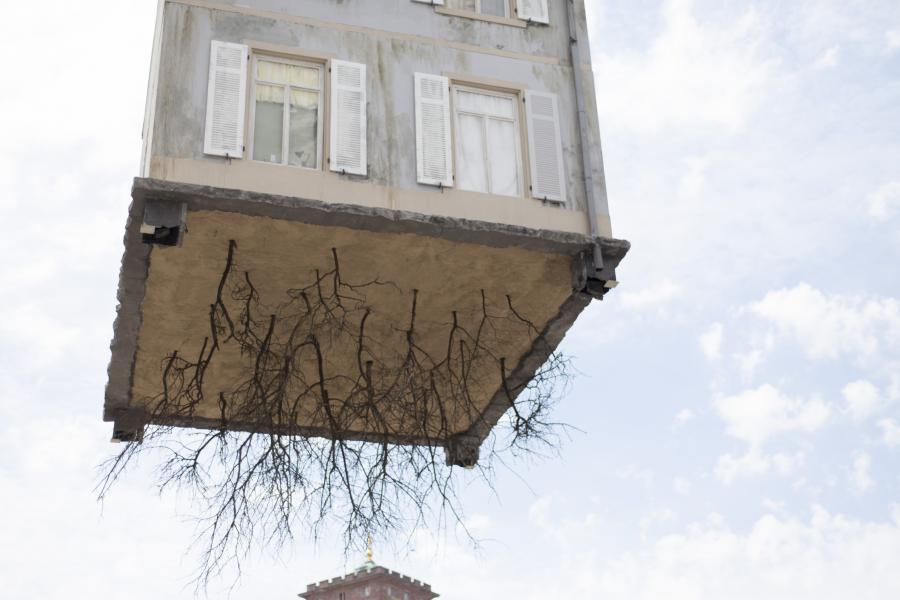 Pulled-by-the-Roots-Leandro-Erlich-Exhibit-Root-View