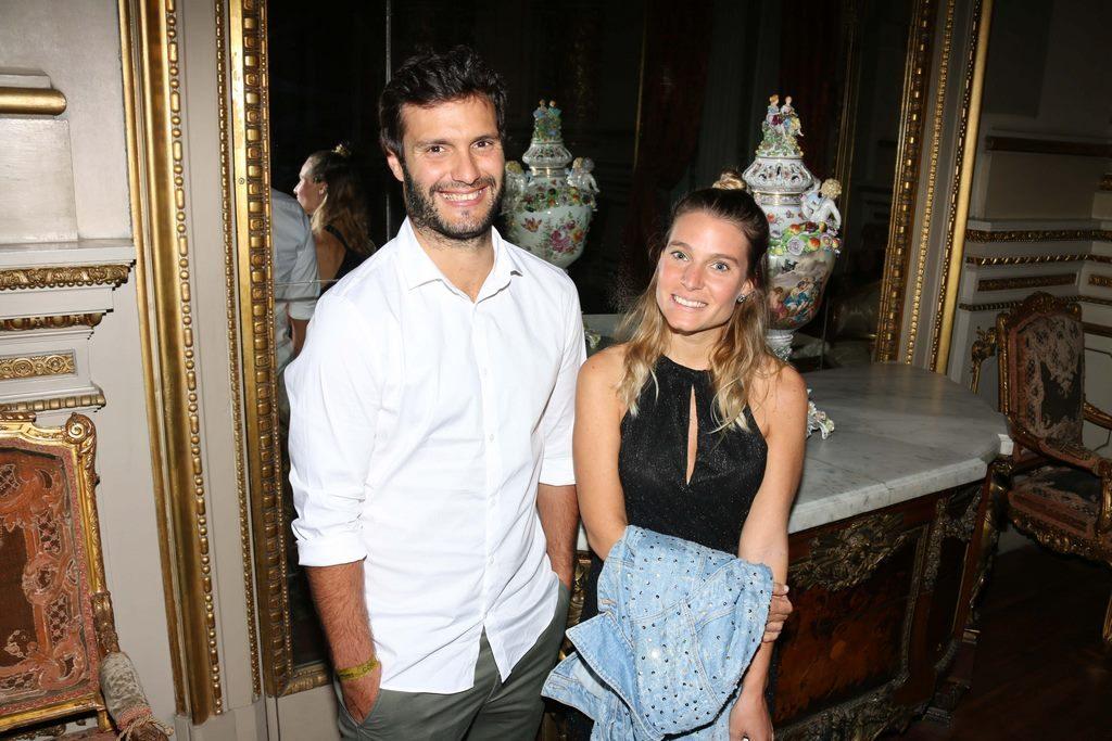 Valu y Caco Ramallo en el cocktail de Stella Artois en el marco de Connected en el Teatro Colon