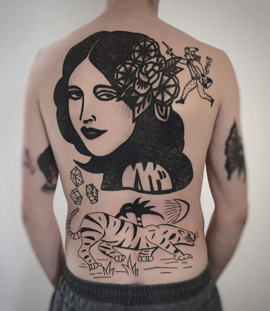 tatuajes en blanco y negro por Charley Gerardin (43)