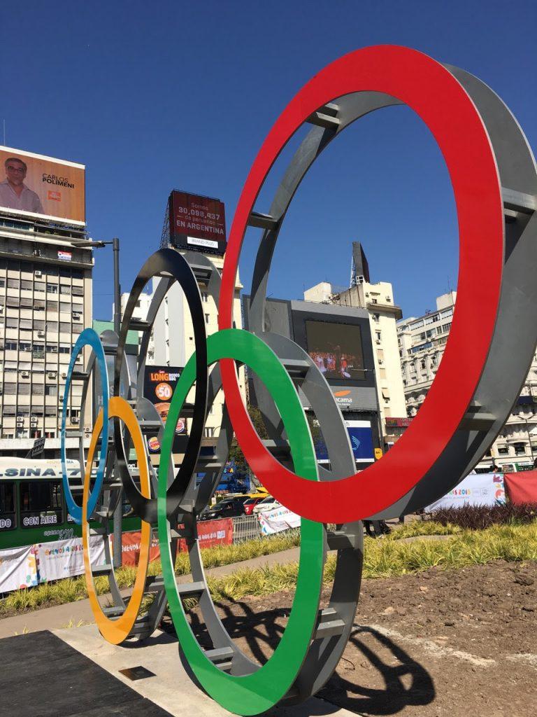 Fernando Poggio anillos olimpicos obelisco buenos aires (2)