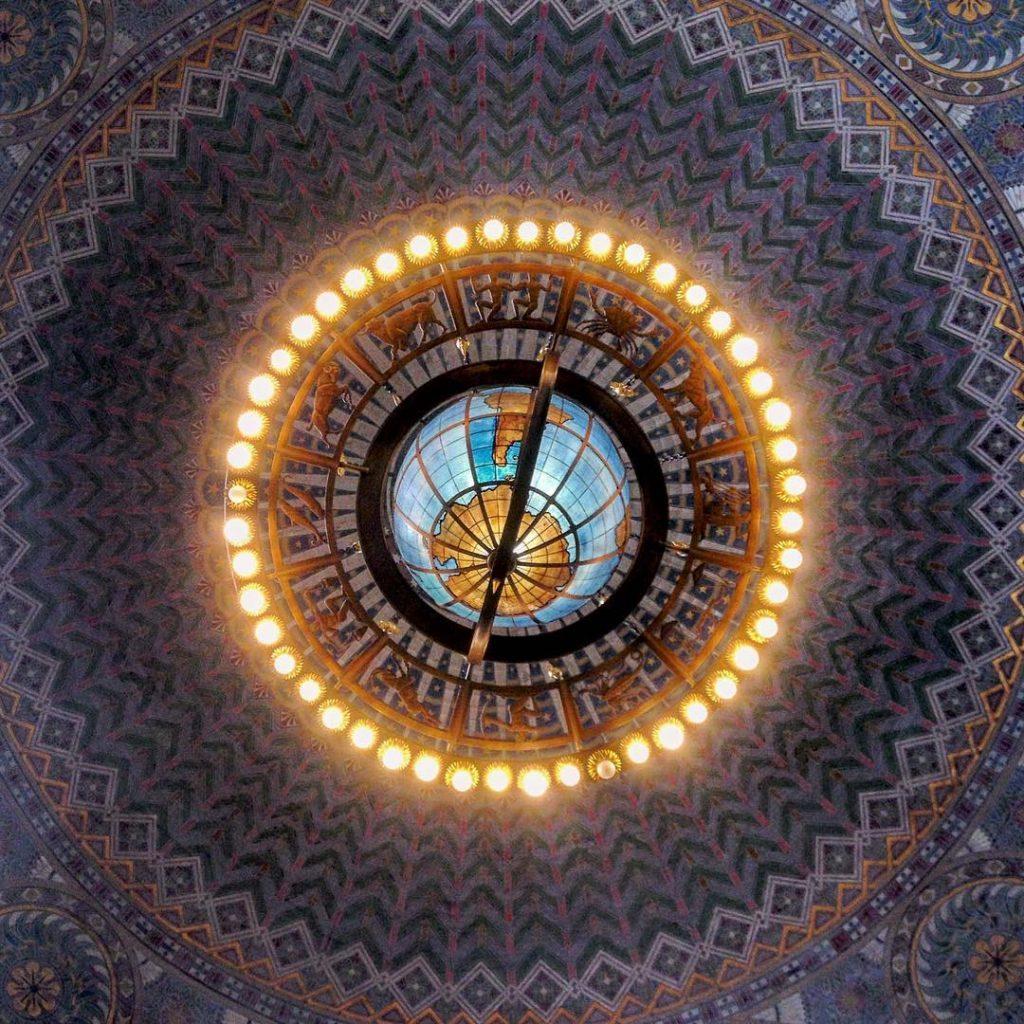 Rotunda chandelier, Los Angeles Public Library