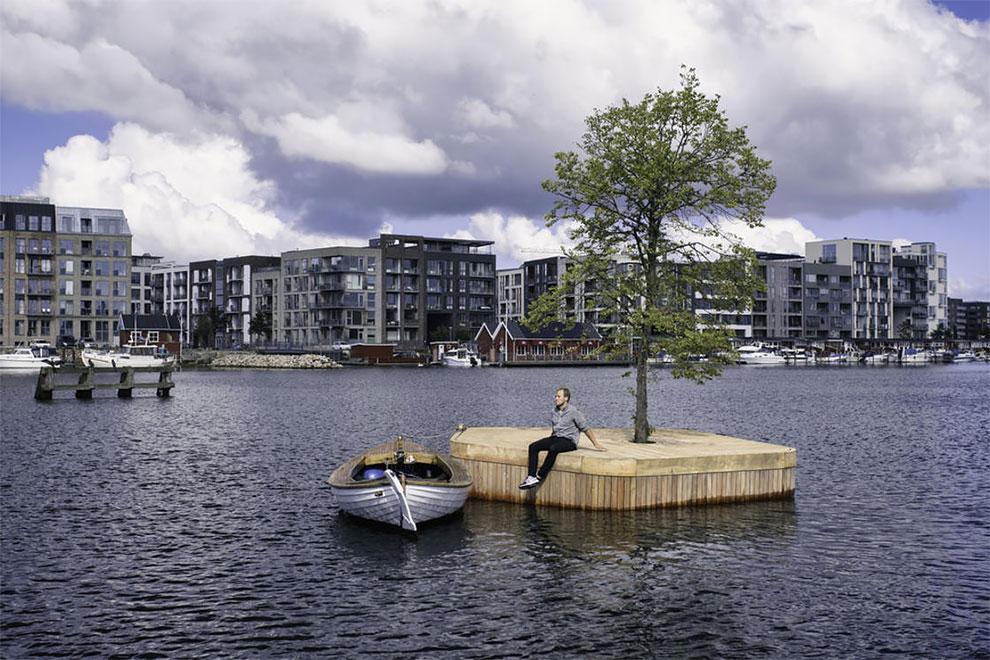 isla artificial Copenhague Blecher y Fokstrot Ø1