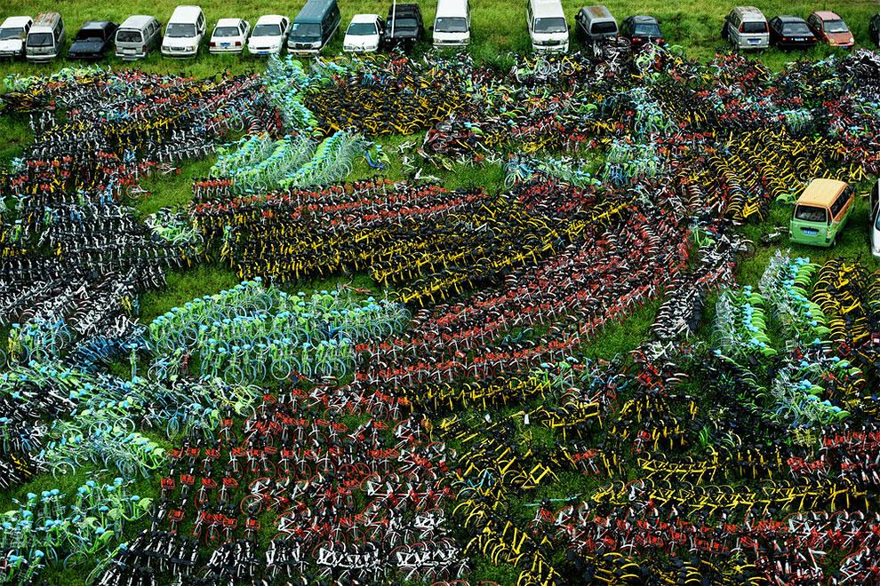 Cementerios bicicletas compartidas en china (8)