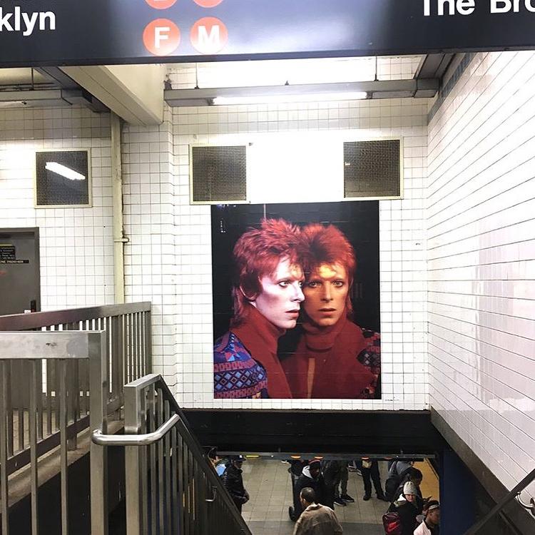 David Bowie invadió una estación de subte de Nueva York (4)