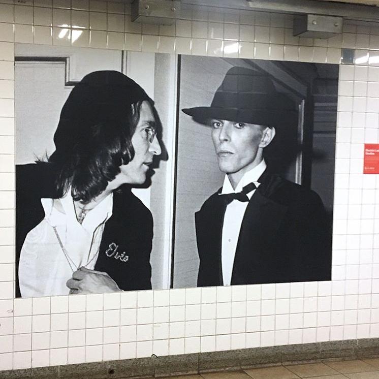 David Bowie invadió una estación de subte de Nueva York (5)