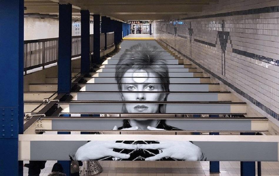 David Bowie invadió una estación de subte de Nueva York