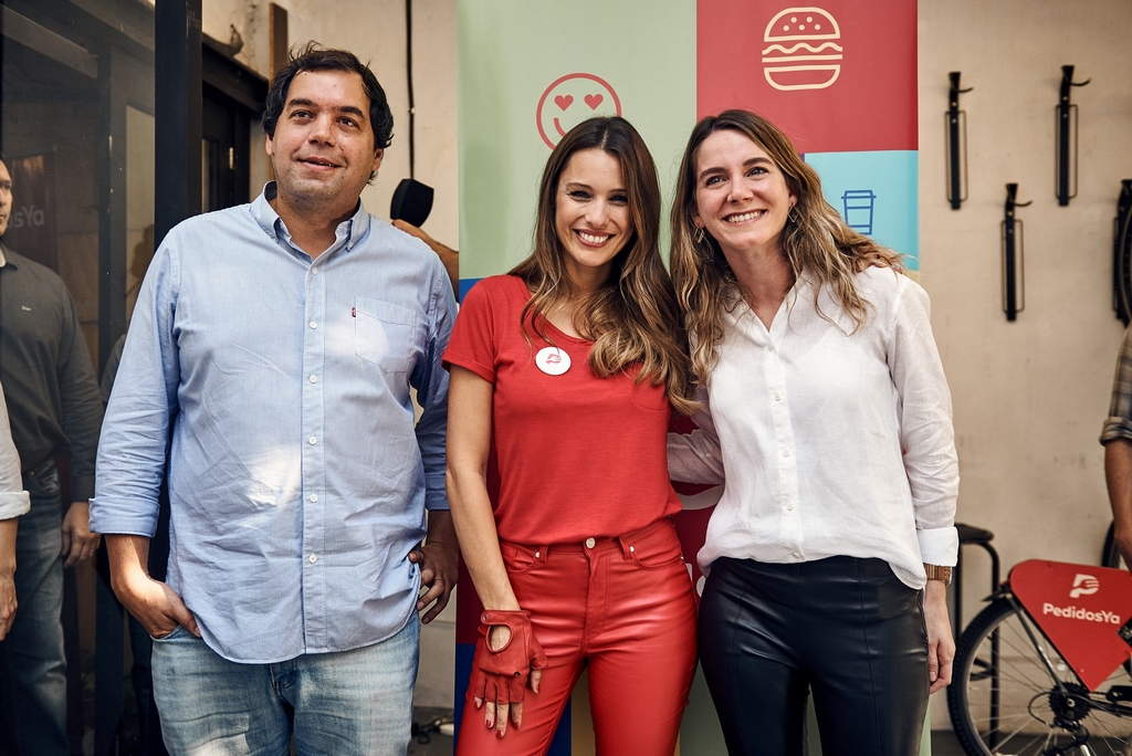Federico Vázquez - VP PedidosYa, Pampita, Valeria Landi - Managing Director PedidosYa