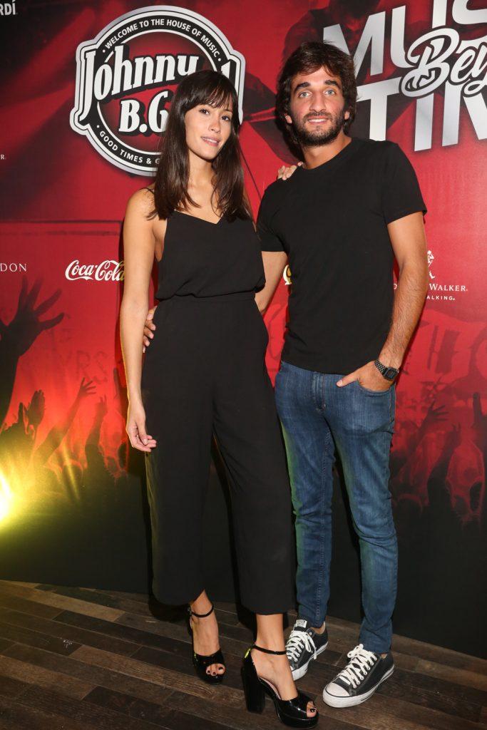 Nicole Luis y Juan Persico en la apertura de Jhonny B Good Palermo