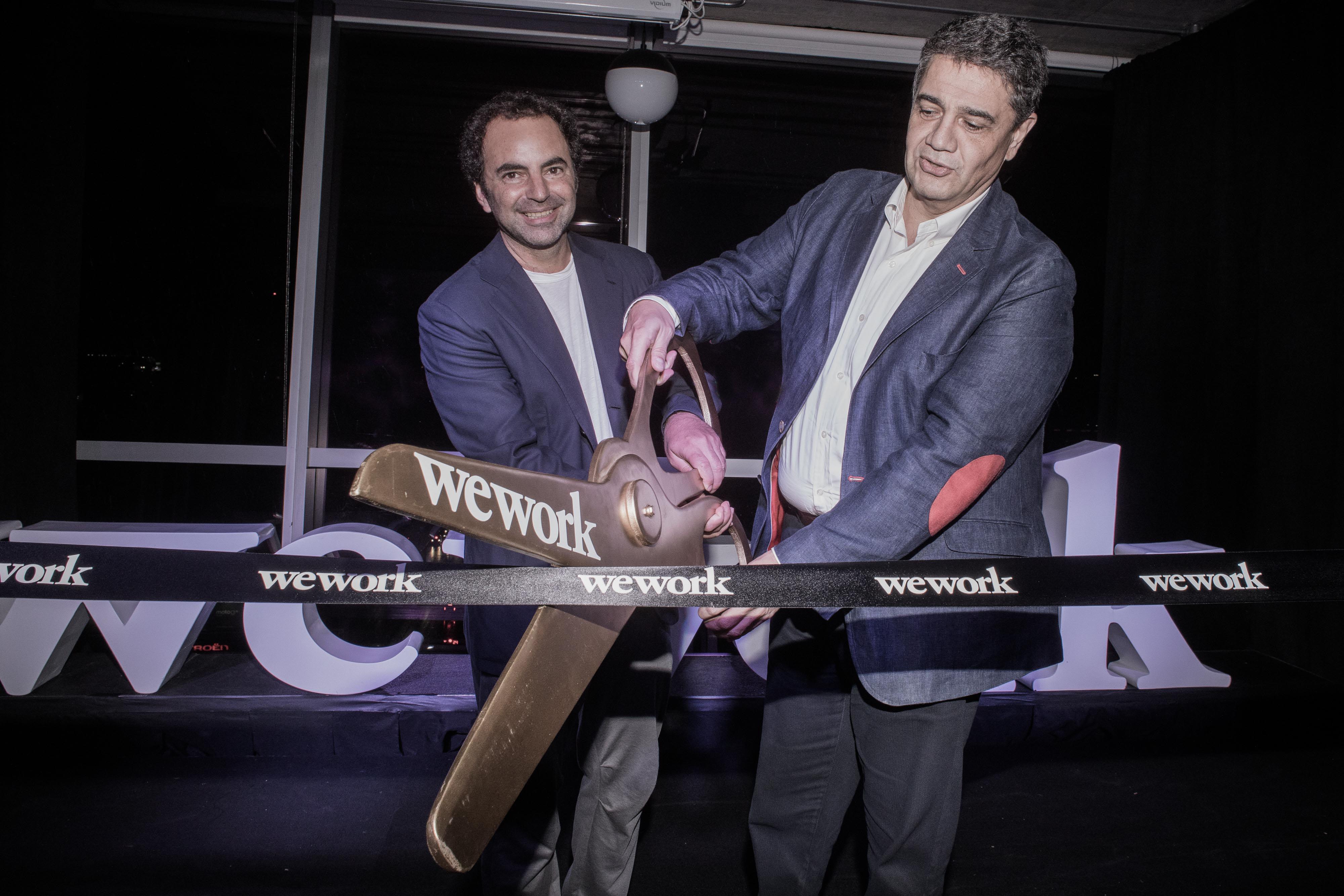 Pato Fuks y Jorge Macri encargados del corte de cinta por la inauguración de WeWork Vicente Lopez