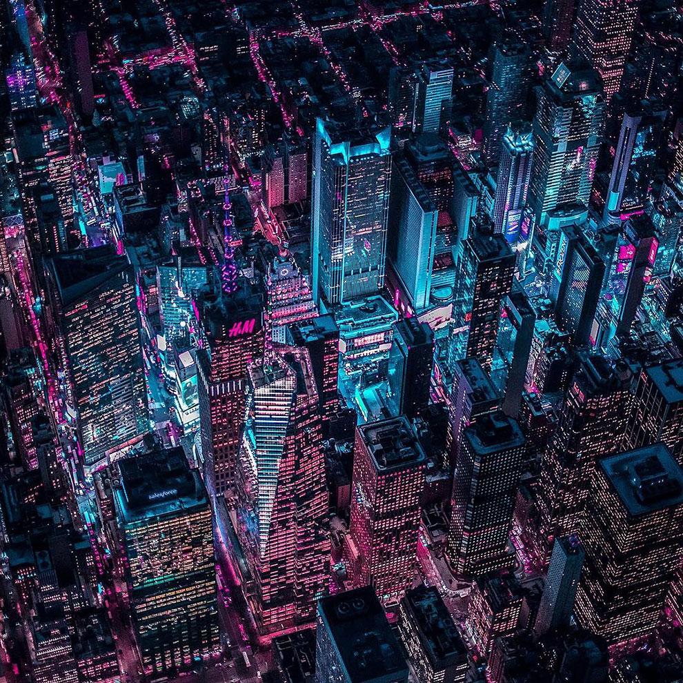 Xavier Portela pinta Nueva York de color Glow (1)