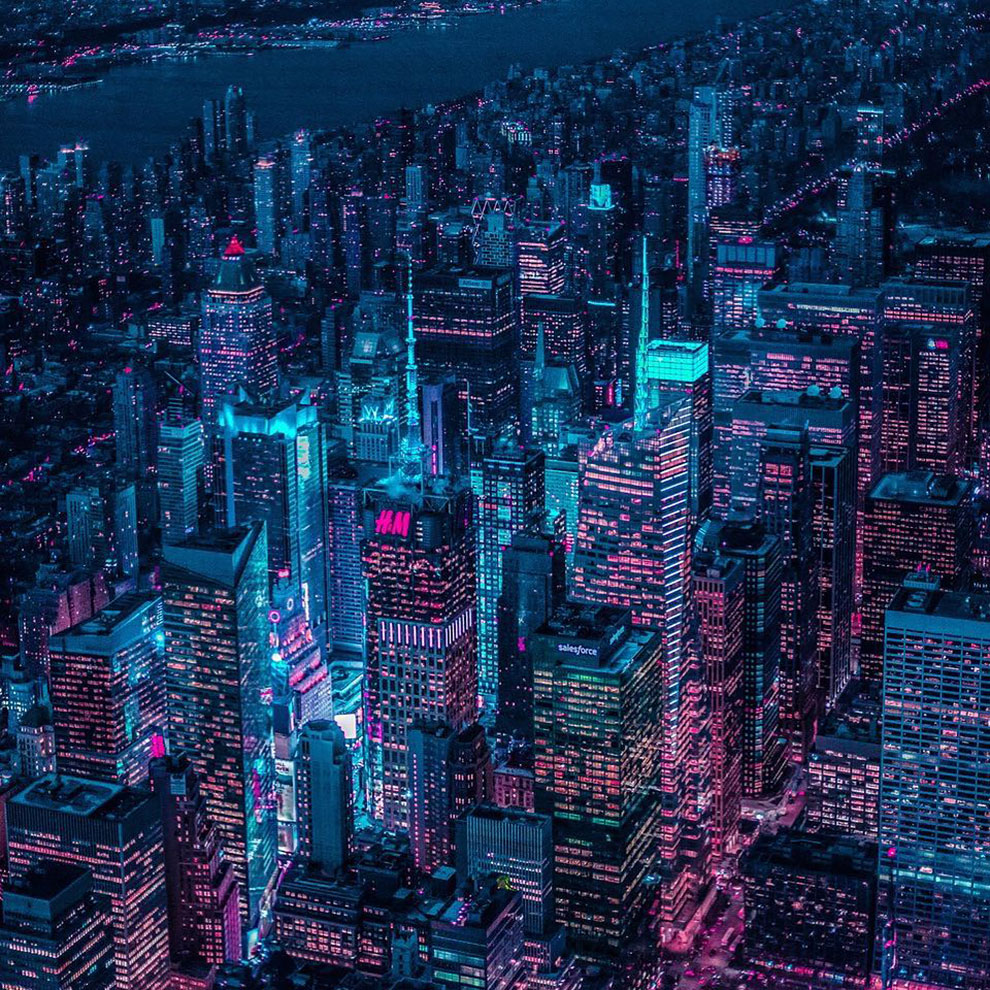 Xavier Portela pinta Nueva York de color Glow (2)