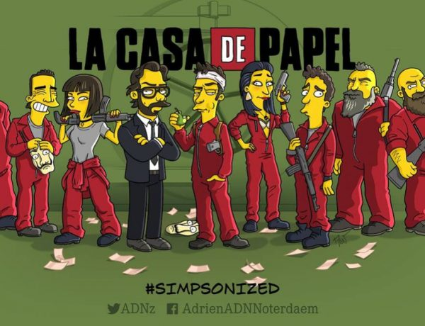 la casa de papel simpsonized