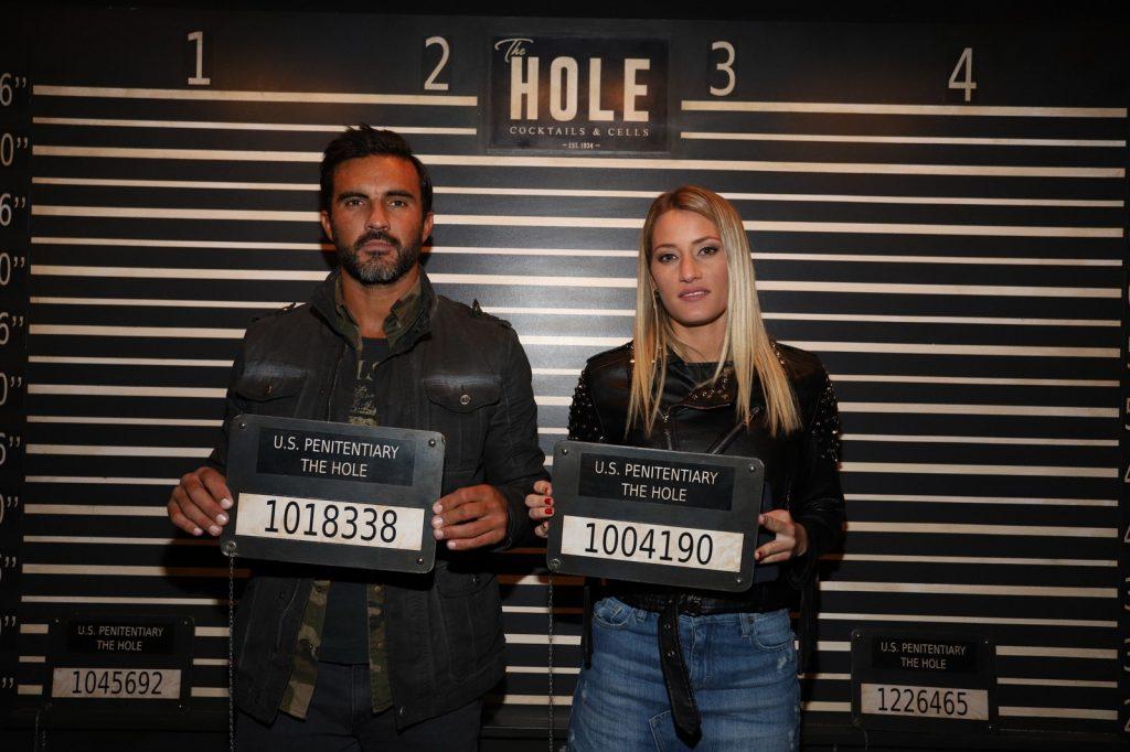 Fabián Cubero y Mica Viceconte en la inauguración de The Hole