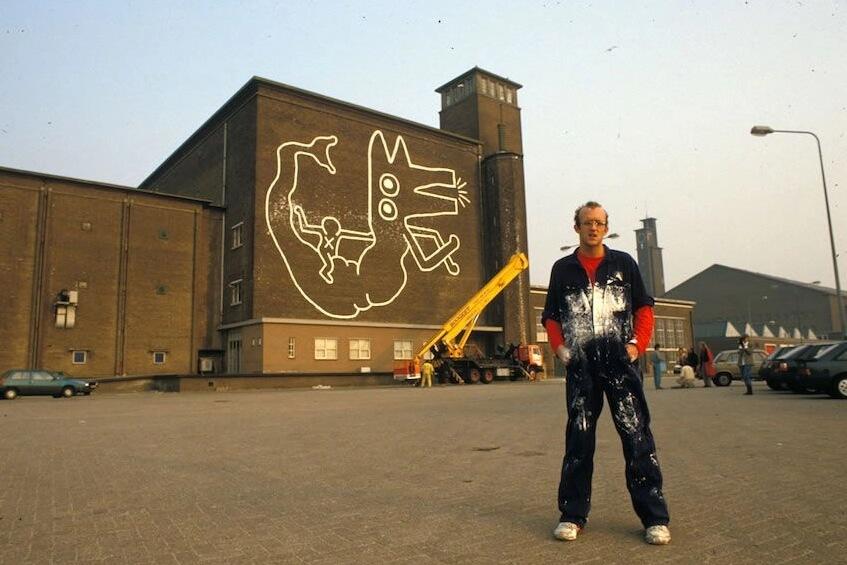 Keith Haring loqueva mural amsterdam