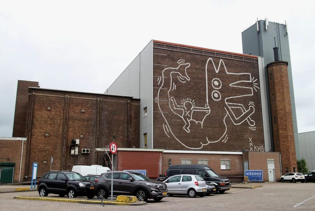 Keith Haring mural loqueva