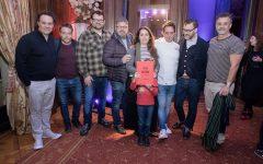 Petersen, Hanocq, Krywonis, de Santis, Lepes y su hija, Grimaldi, Trocca y Petersen