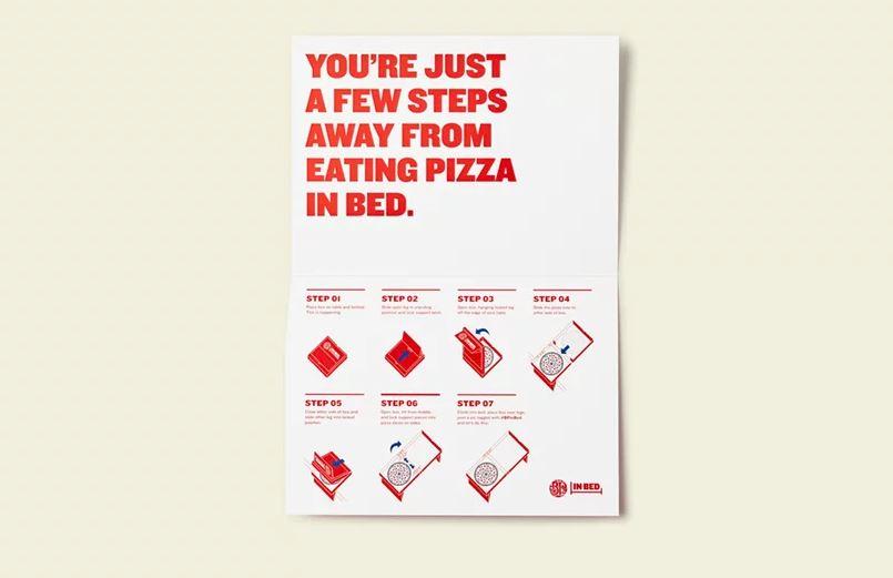 Esta caja de pizza es ideal para comer en la cama