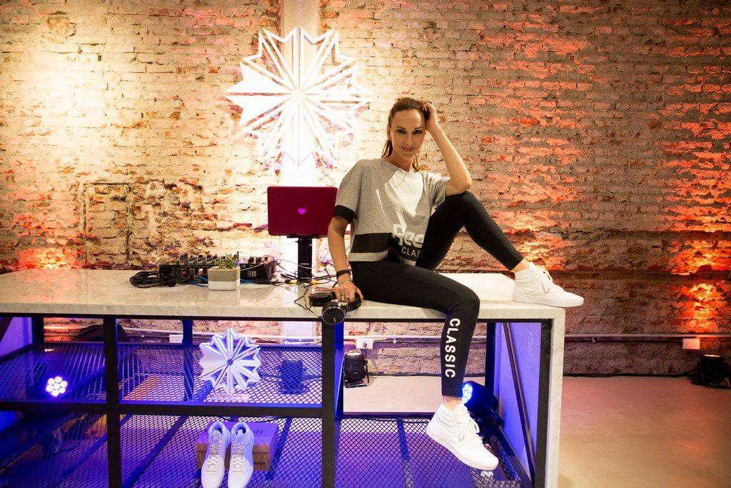 Cata Spinetta en la presentación de la nueva zapatilla de Reebok Classic - Freestyle Hi Nova