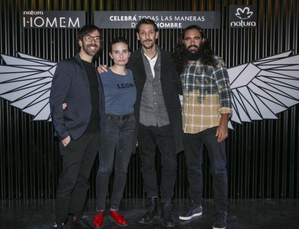 Clemente, Tamars, Humberto y Juan Pablo Sorin, los referentes del panel de díalogo de Nueva Masculinidad en el evento NATURA HOMEM