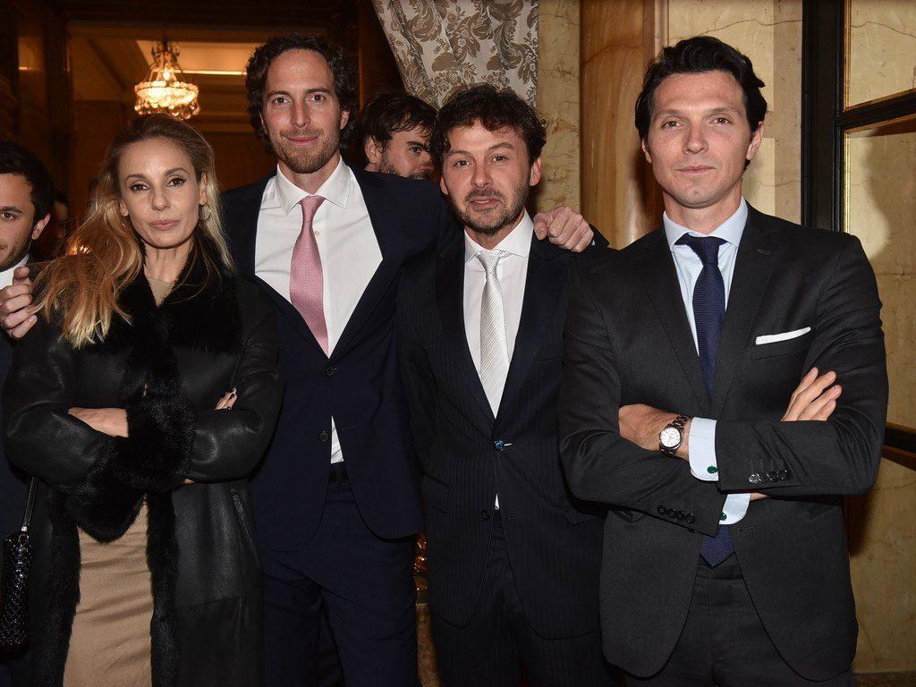 Juli Cardinali, Roger Zaldivar, Wally Diamante y Facu Garayalde en la Gala solidaria de Fundación Zaldivar