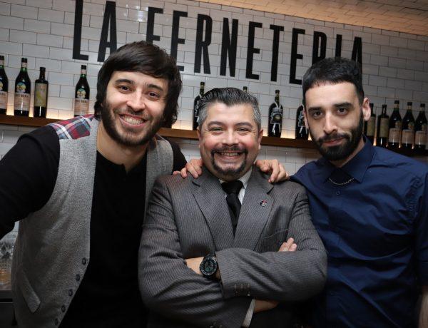 Los bartenders Sebas Atienza, Federico Cuco y Gon Cabado.