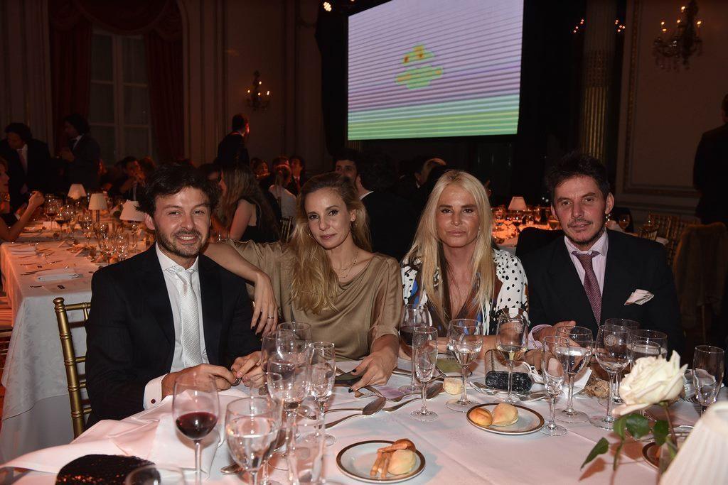 Wally Diamante, Juli Cardinali, Mecha Sabarrayrouse y Gerard Confalonieri en la Gala solidaria de la Fundación Zaldivar