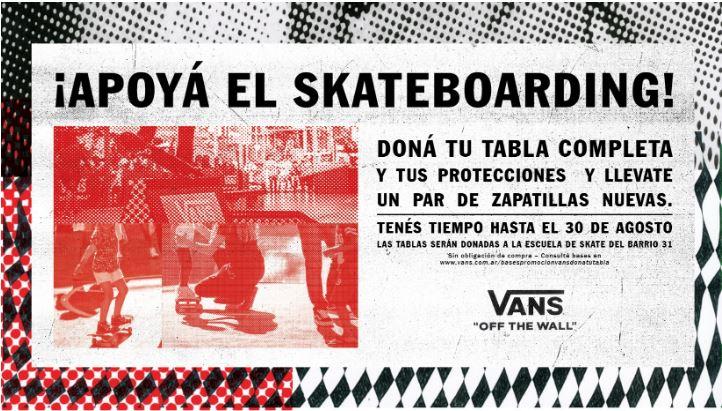 apoya el skateboard