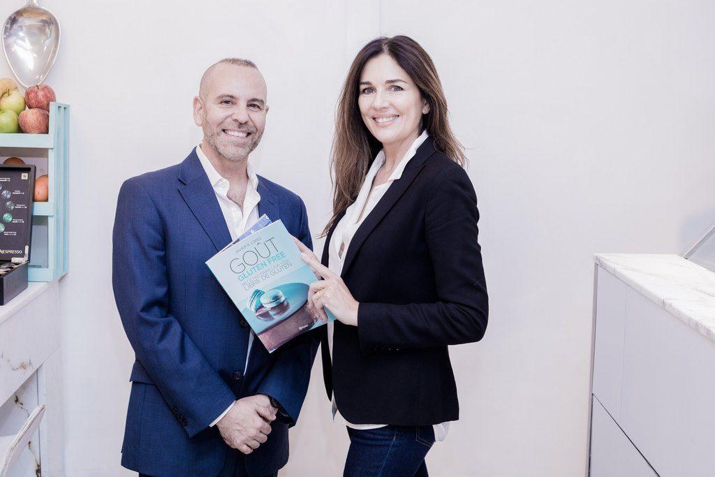 Andrea Frigerio junto a Javier López, creador del libro de recetas Gout Gluten Free