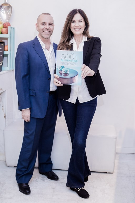 Andrea Frigerio junto a Javier López creador del libro de recetas Gout Gluten Free