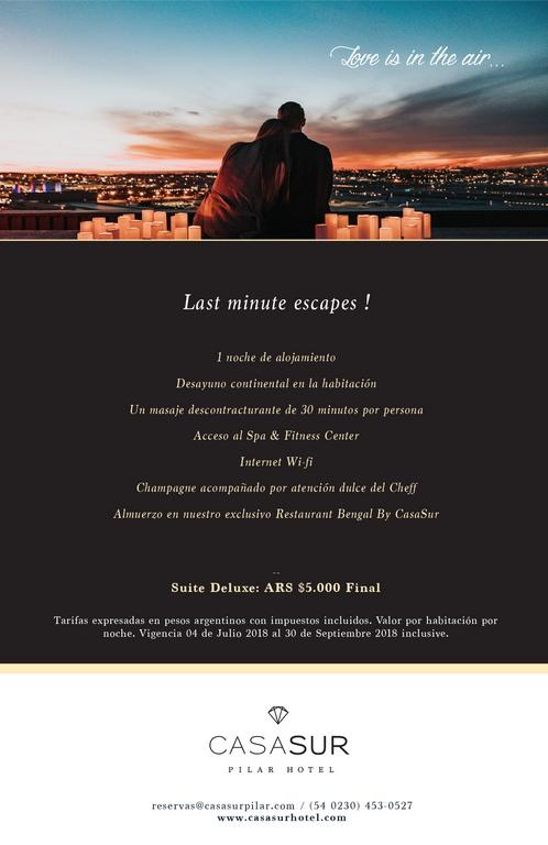 Escapada Romantica - CasaSur Pilar Hotel