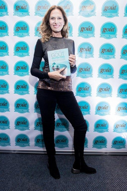 Ginette Reynal en la presentación del libro Gout Gluten Free by Javier López