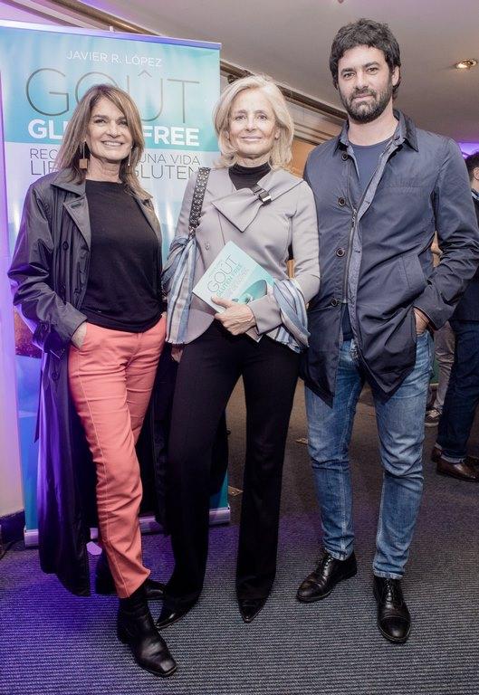 Teresa Calandra, Cecilia Zuberbuhler y Diego Balut en la presentación del libro Gout Gluten Free by Javier López